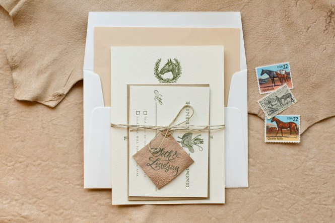 Diy Rubber Stamp Equestrian Wedding Invitations