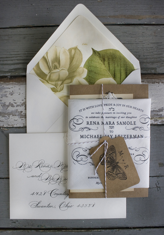 Signature Lucky Luxe Couture Correspondence Letterpress Wedding Stationery