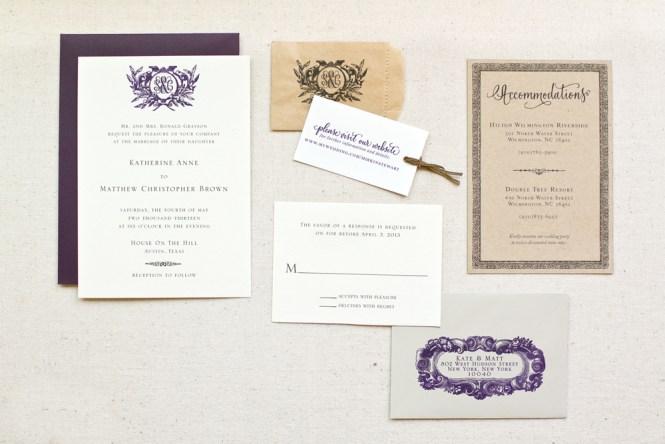 Diy Tutorial Rustic Monogram Rubber Stamp Wedding Invitations