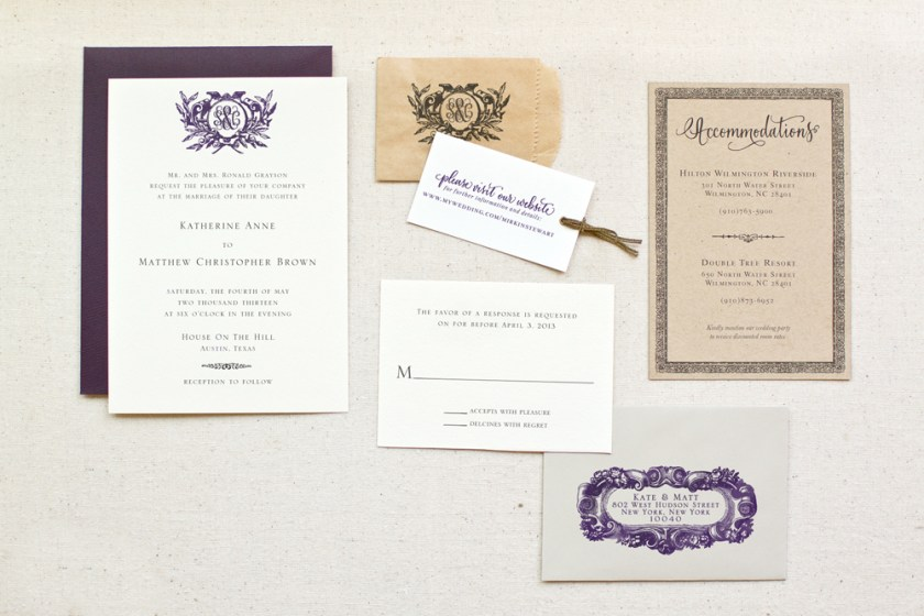 Diy Tutorial Kraft Paper Rubber St Wedding Invitations By Antiquaria Via Oh So Beautiful