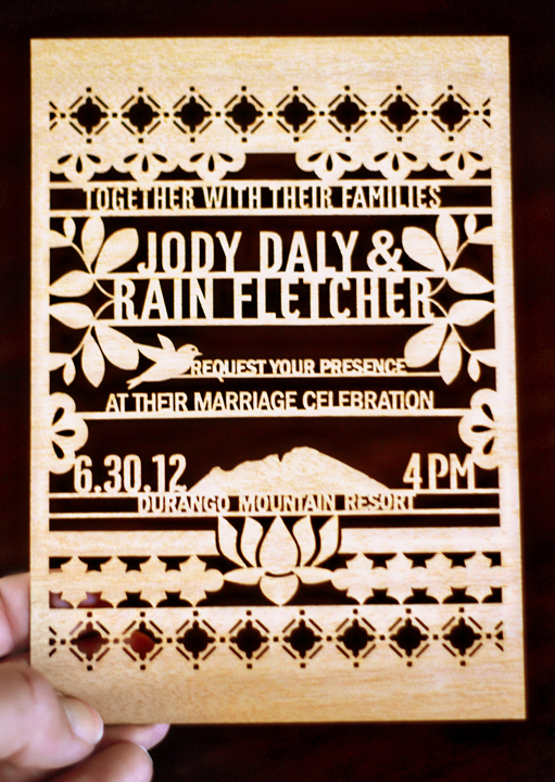 Laser Cut Party Invitations