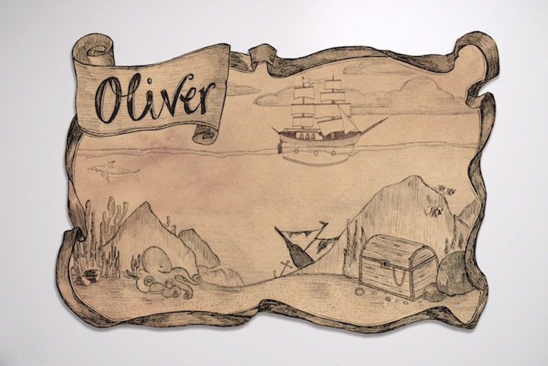 It's a treasure map style pirate birthday party invitation. Oliver S Pirate Theme Birthday Party Invitations