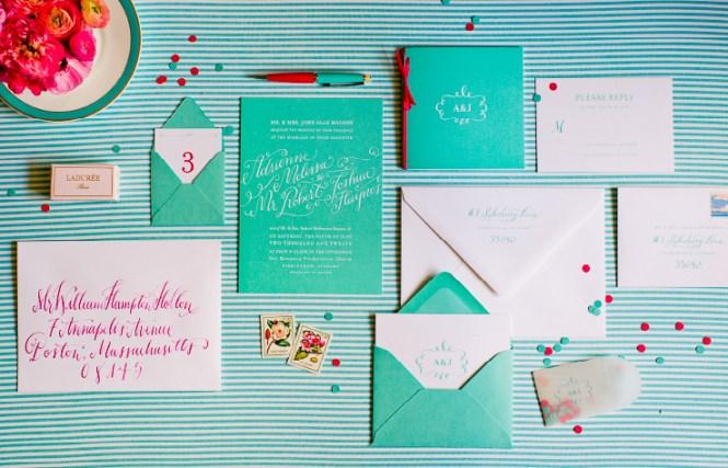 Tiffany Inspired Wedding Invites