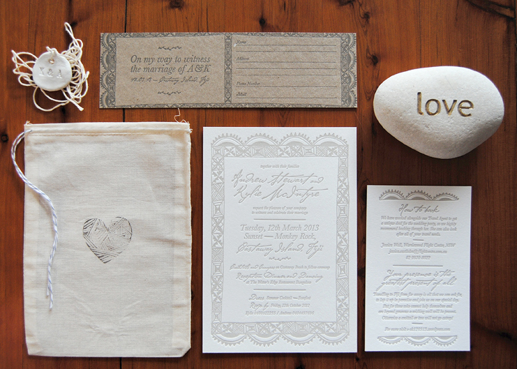 Fiji Destination Wedding Invitations Via Oh So Beautiful Paper 7
