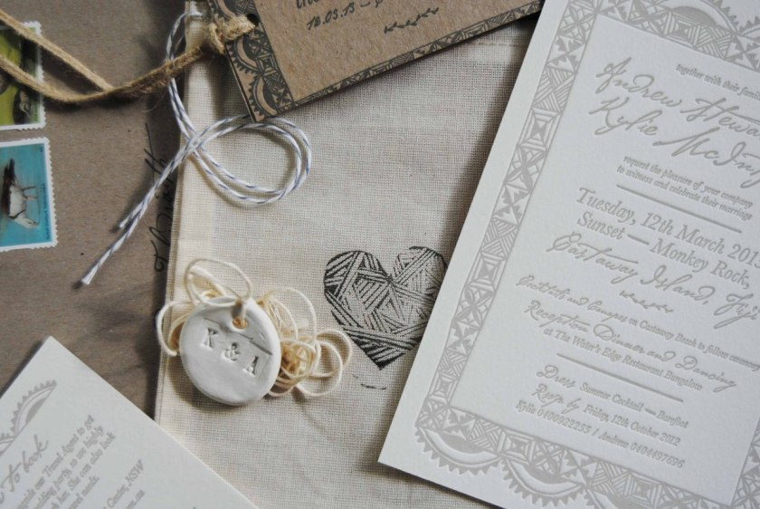 Fiji Destination Wedding Invitations Via Oh So Beautiful Paper
