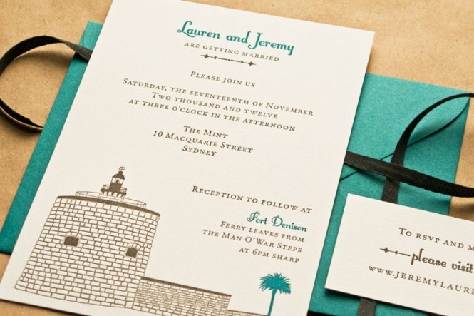 Letterpress Australian Wedding Invitations By Laura Macchia And May Day Studio Via Oh So Beautiful Paper