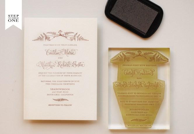 Diy Tutorial Vintage Fern Wedding Invitations