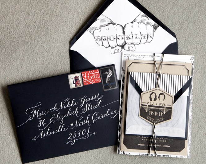 Courtney Paul S Brooklyn Wedding Invitations