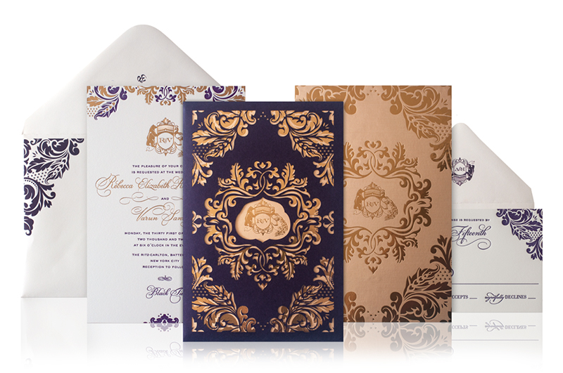 Lasercut And Gold Foil Wedding Invitations By Atelier Isabey Via Oh So Beautiful Paper 8