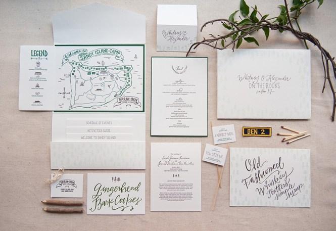 Sarah Ben S Summer Camp Inspired Wedding Invitations
