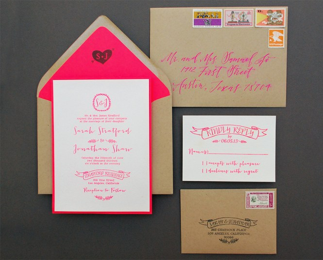 Diy Tutorial Gold Rubber Stamp Save The Dates By Antiquaria Via Oh So Beautiful Paper