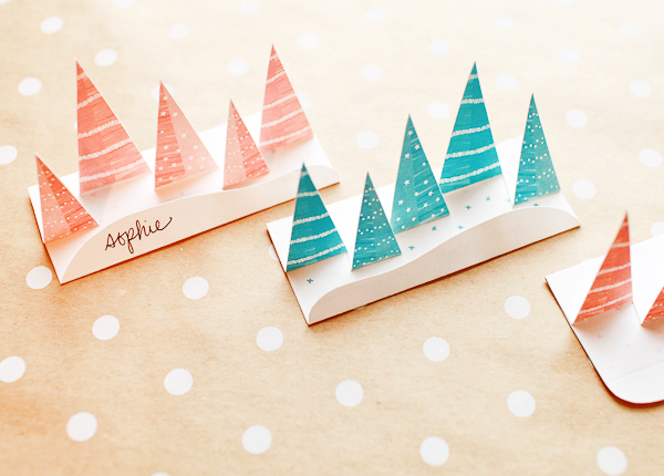 Osbp Diy Pop Up Winter Forest Place Cards
