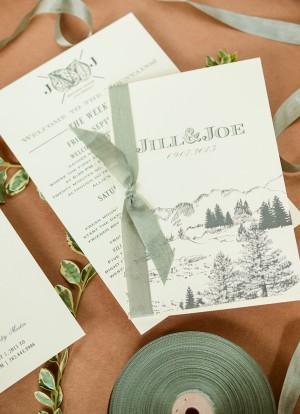 Rustic Colorado Wedding Invitations Antiquaria6