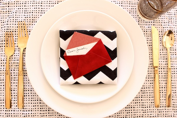 DIY Mini Love Letter Placecards OSBP 11 DIY Tutorial: Love Letter Dinner Party Placecards