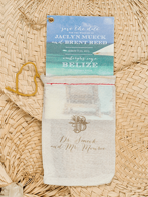 Tropical Destination Wedding Save The Date Papellerie2