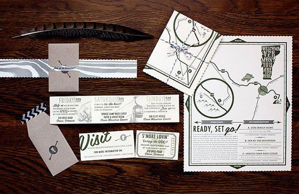 Rustic Vermont Wedding Invitations