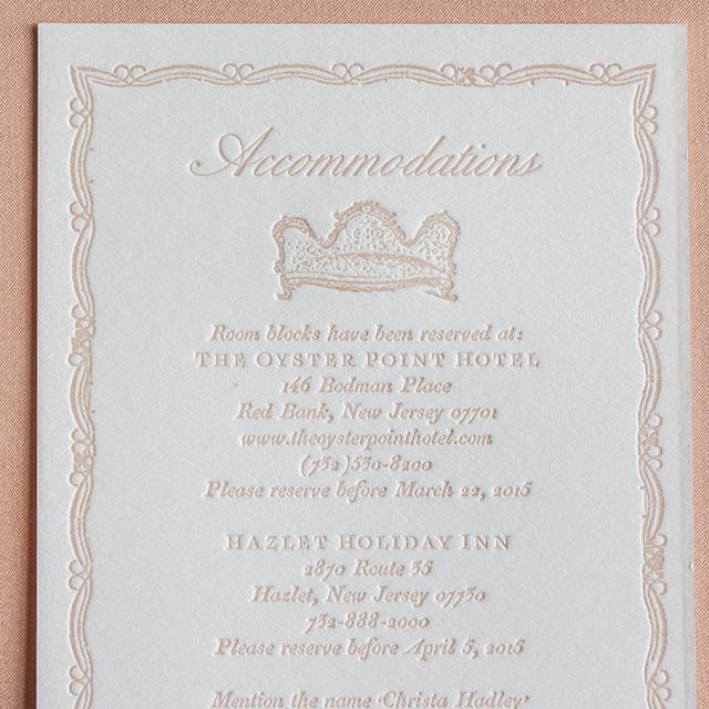 Versailles Inspired Wedding Invitations