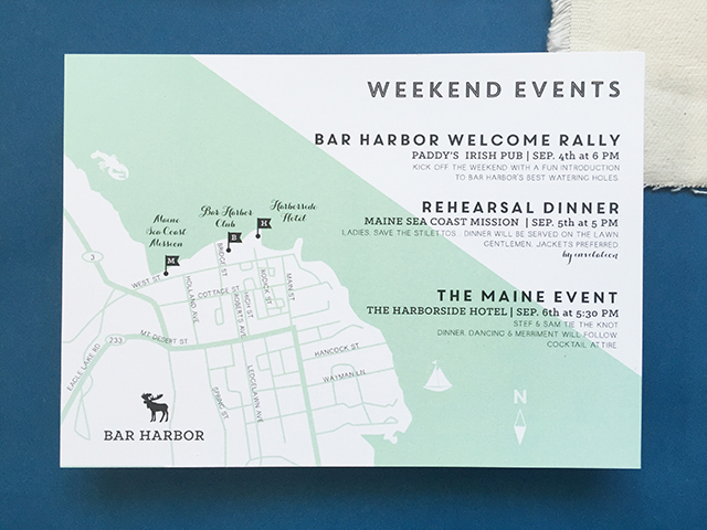 Maine Moose Gold Foil Wedding Invitations By Charm And Fig Oh So Beautiful Paper