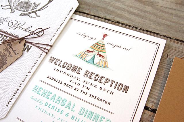 Rustic Watercolor Colorado Wedding Invitations By Tenn Hens Design Oh So Beautiful Paper
