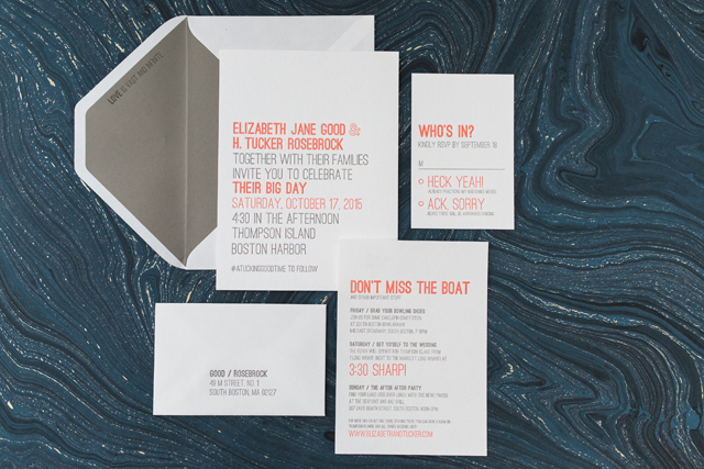 Modern Neon Typography Wedding Invitations By Smudge Ink Oh So Beautiful Paper