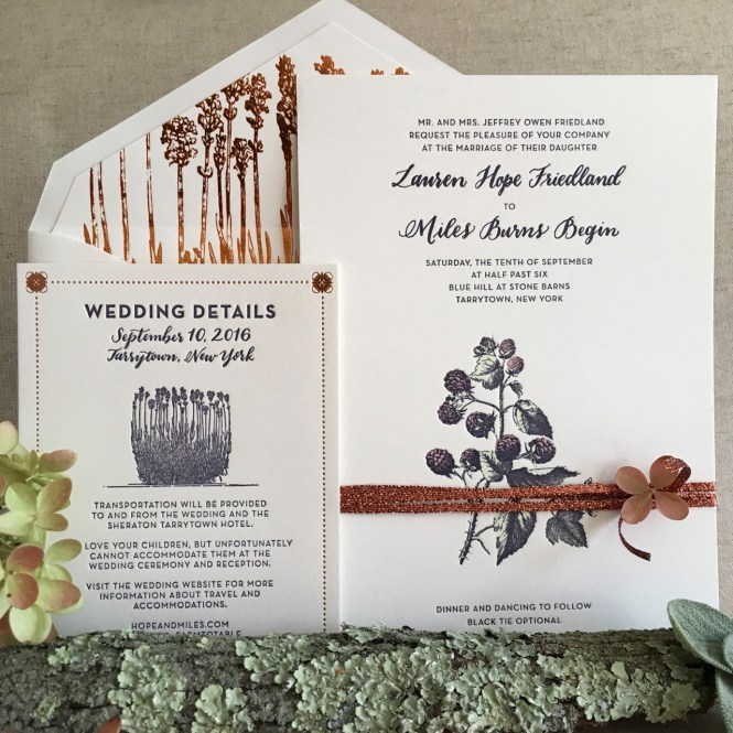 Farm To Table Inspired Wedding Invitations