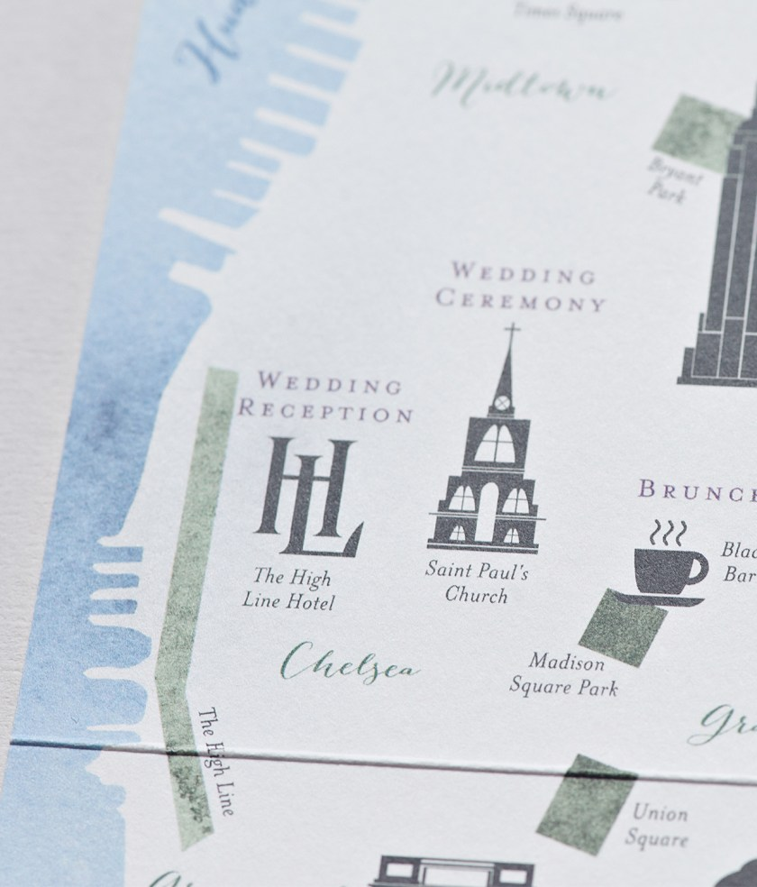 New York City Inspired Fl Watercolor Wedding Invitations By Suite Paperie