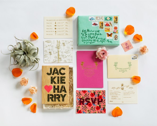 Vibrant Tropical Hawaiian Wedding Invitations