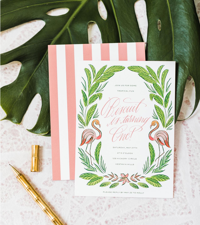 green birthday party invitations