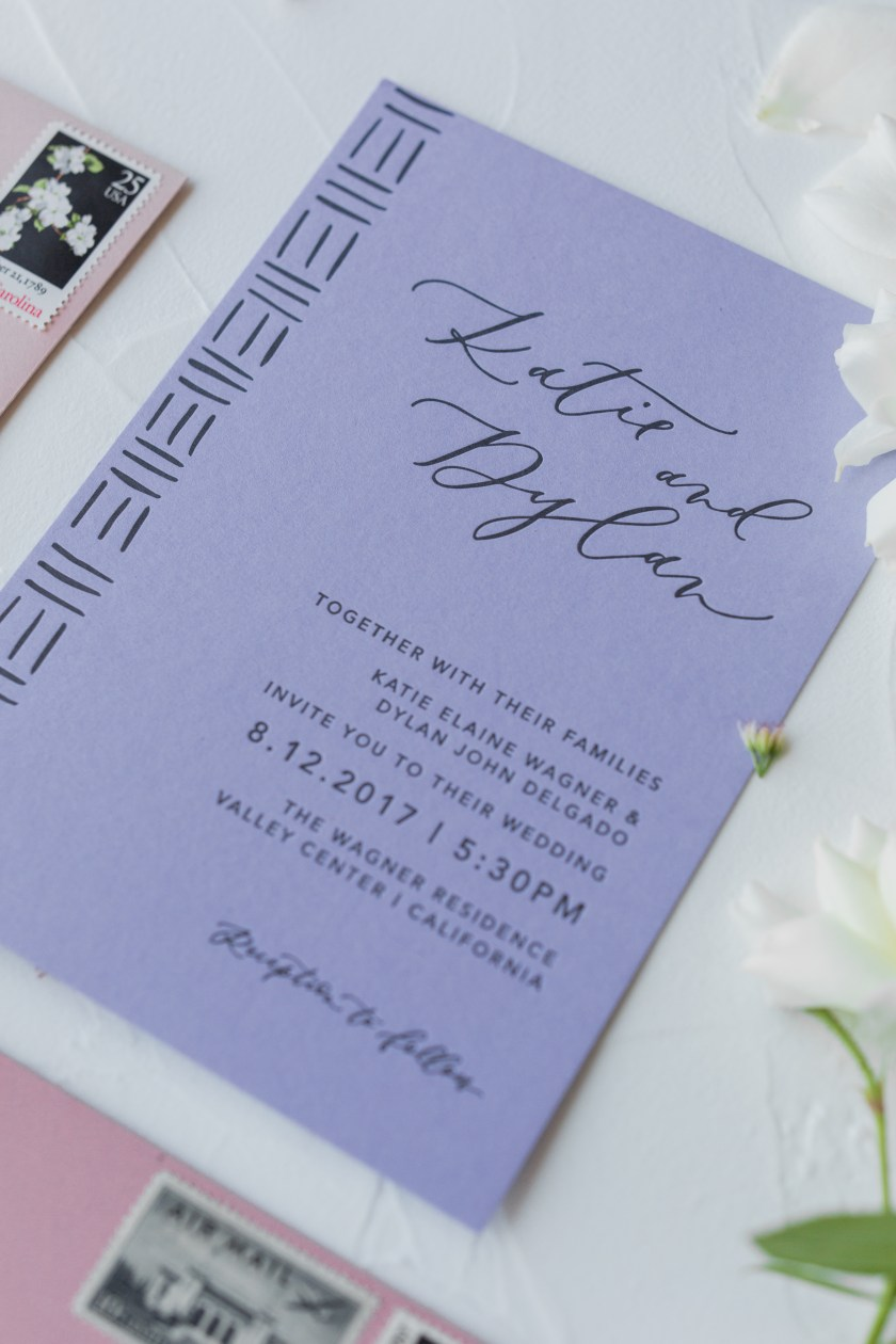 Pastel Mudcloth Inspired Wedding Invitations By Le Toast