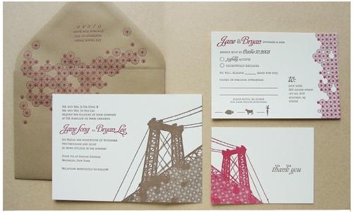 Brooklyn Bridge Wedding Invitations