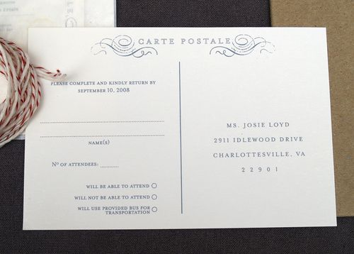 Antique Book Inspired Wedding Invitations Rsvp Postcard