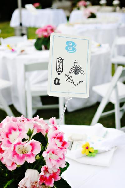 Fun Wedding Table Numbers Escort Card Idea