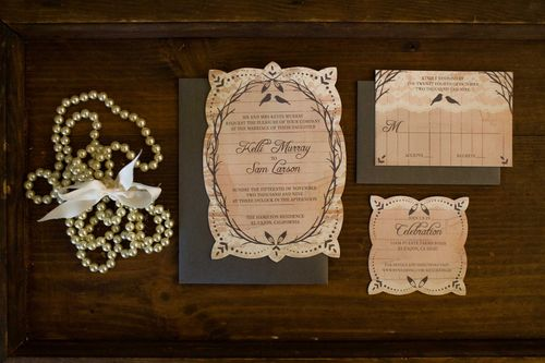 Kelli Sam Vintage Inspired Wedding Invitations