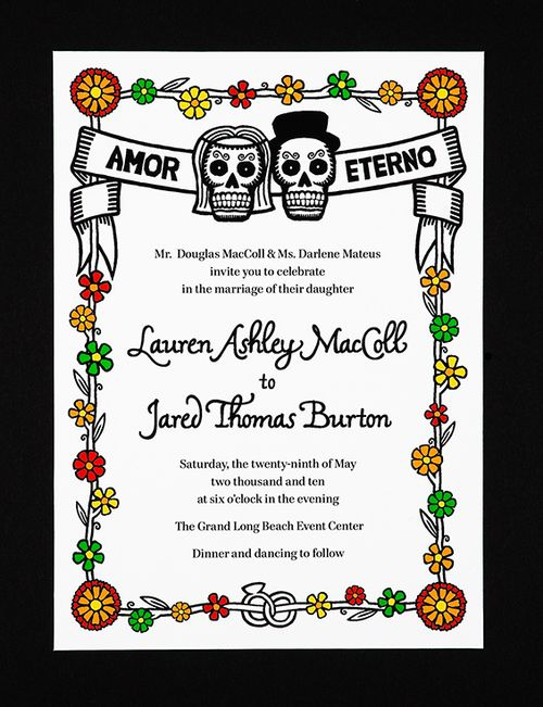 Dia De Los Muertos Wedding Invitation
