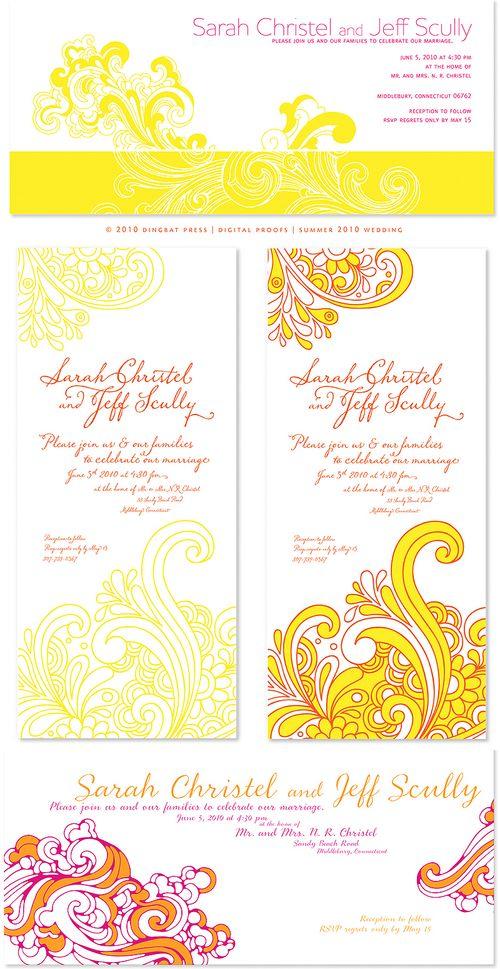 Pink Orange And Yellow Wedding Bouquet