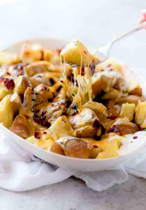 Pressure Cooker Cheesy Potatoes Recipe | Oh So Delicioso