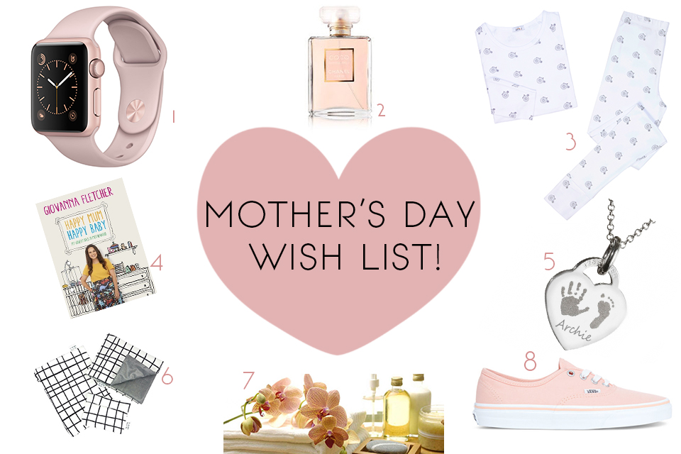 mothers day wish list