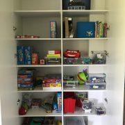cupboard organising