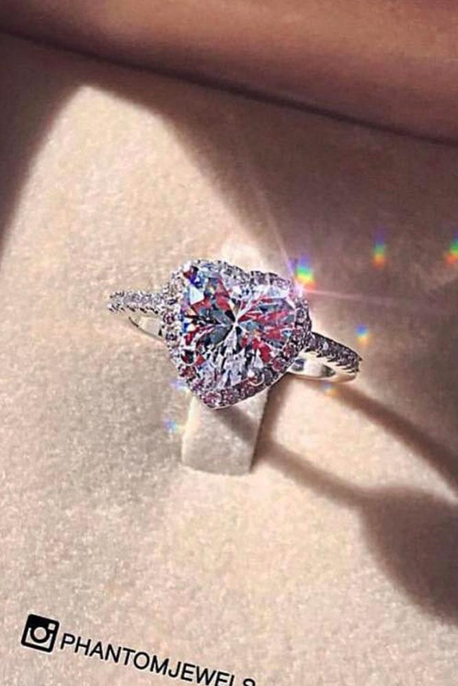 15 Unique Heart Engagement Rings