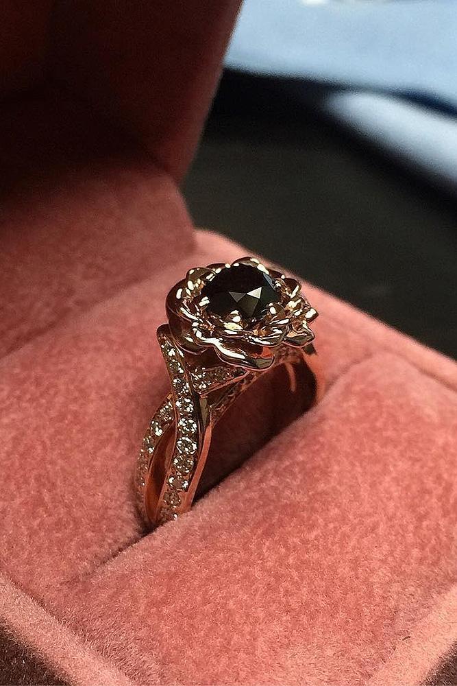 24 Unique Black Diamond Engagement Rings Oh So Perfect
