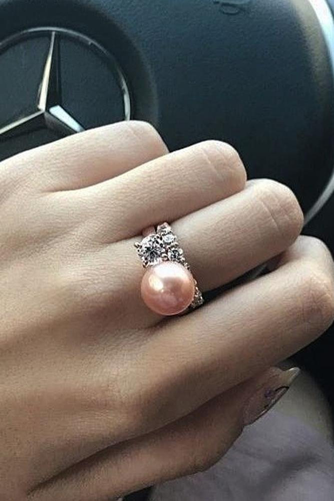 Pearl Engagement Rings For A Beautiful Romantic Look Oh So Perfect Proposal