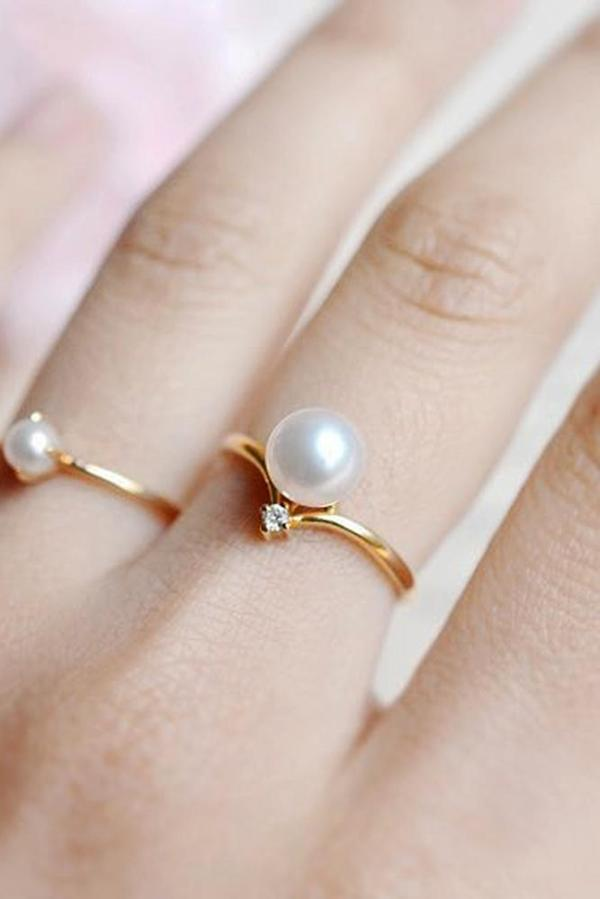 30 Pearl Engagement Rings For A Beautiful Romantic Look ...