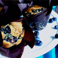 Brown Butter, White Chocolate & Blueberry Muffins