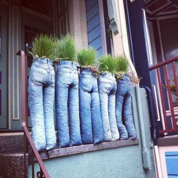 Denim Jeans Planter