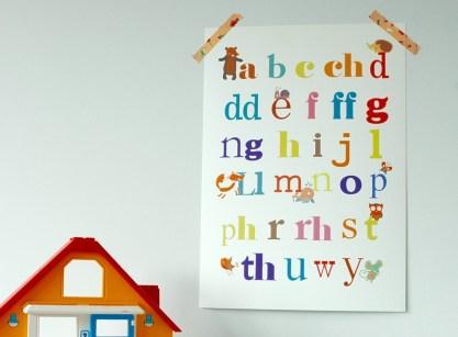 Welsh Alphabet Nursery Print