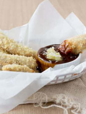 ohsweetbasil.com Chicken Strips with a Teriyaki Pina Colada sauce