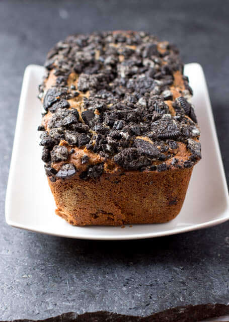 #oreo #biscoff banana bread that is so sinfully delicious you'll find yourself hiding it from the whole family ohsweetbasil.com