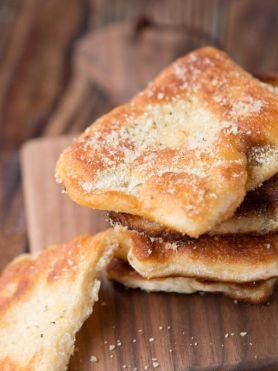 Easy Gralic Parmesan Fry Bread ohsweetbasil.com