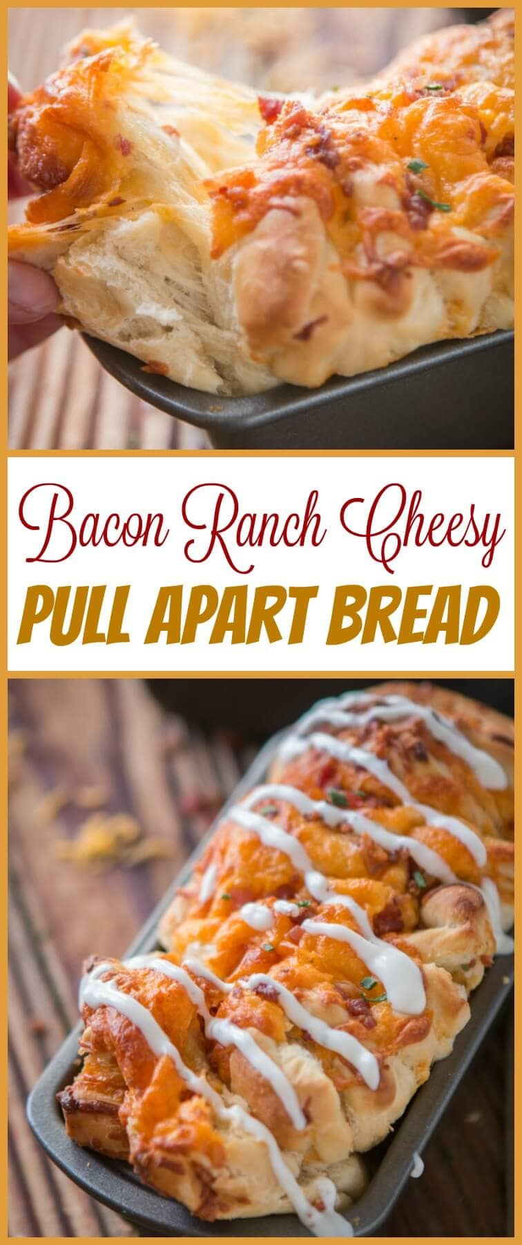 Party food, game day appetizers, or even just a need for carbs this Bacon Ranch Cheesy Pull Apart Bread is exactly the thing you've been craving.. ohsweetbasil.com
