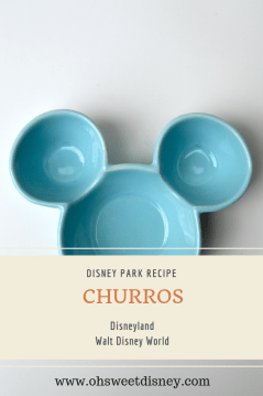 Disney Park Recipe Churros
